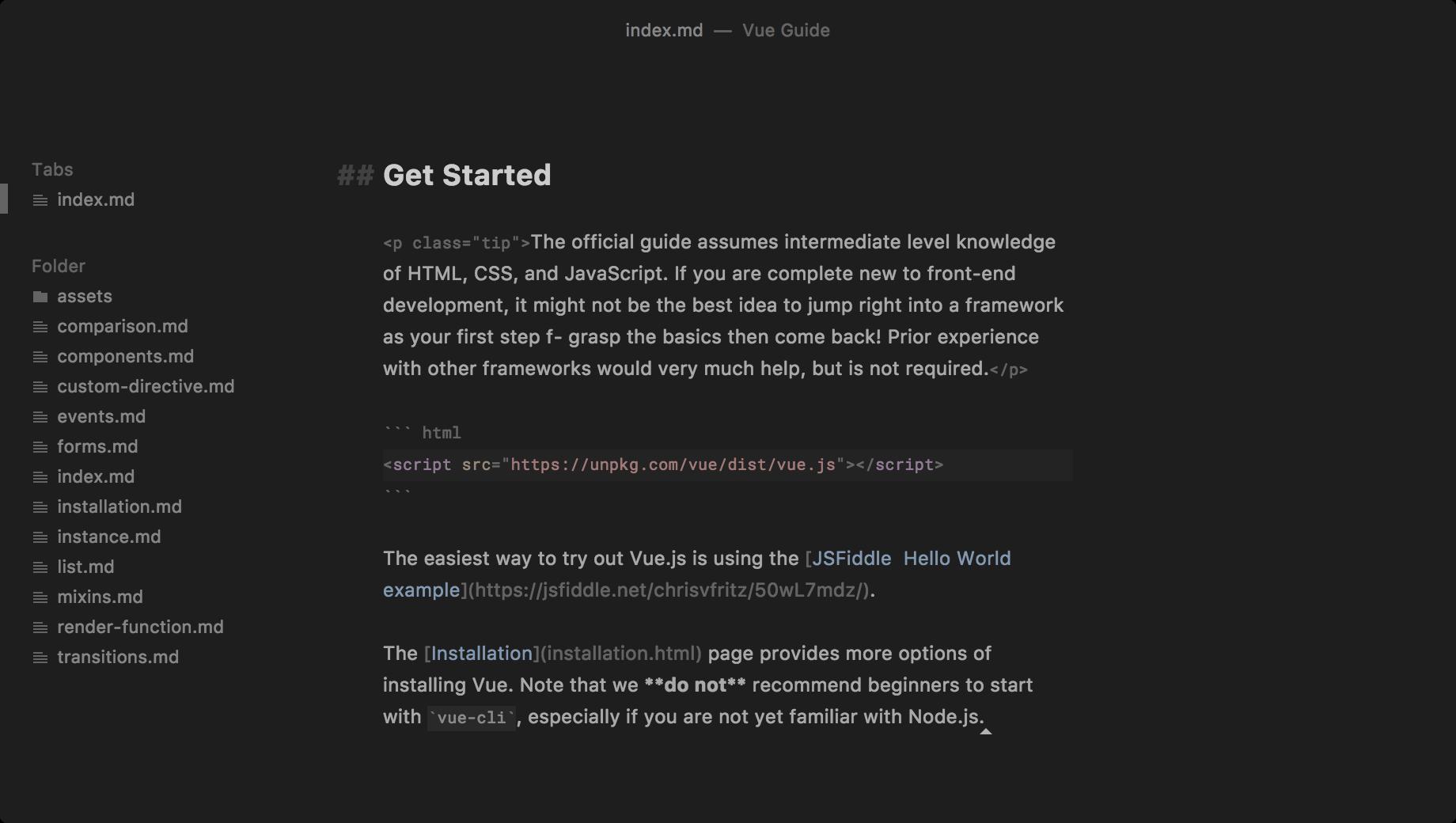 Caret - Markdown Editor for Mac / Windows / Linux